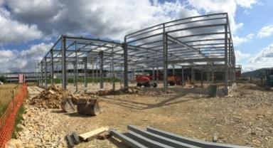 Construction d'un bâtiment industriel CREARTIS - Les Prés Chalots à ROCHE-LEZ-BEAUPRE
